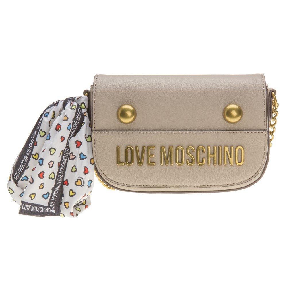 Love Moschino Chain Cross Body Womens Handbag Natural