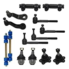 New Complete 14-Piece Front Suspension Kit GMC Trucks 4x4 10-Year Warranty- All (4) Front Ball Joints, 4 Tie Rods, 2 Sway Bar Link, 2 Adjustment Sleeve, 2 Pitman Arm & Idler Arm