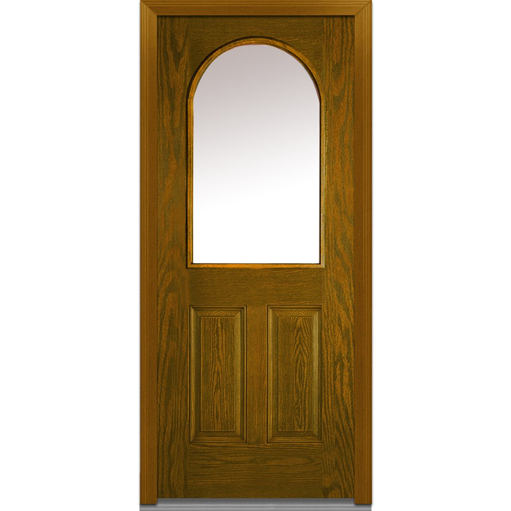 National Door Company Za00192l Fiberglass Oak Prehung Left Hand