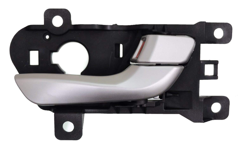 for Ford F150 Inside Door Handle Silver Gray Housing Chrome Lever Passenger Side