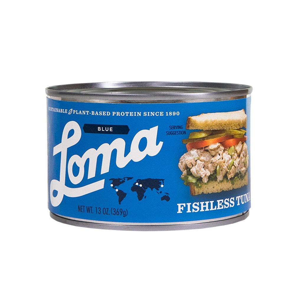 Loma Linda Blue - Vegan - Fishless Tuna (13 oz.) - Non-GMO, Gluten Free, Kosher