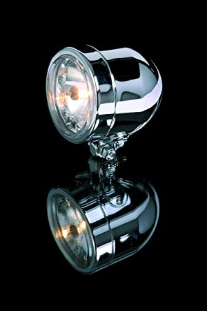 Scheinwerfer Chrom 90mm H4 Befestigung Unten E Gepr Auto
