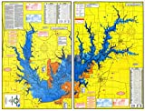 Topographical Fishing Map of Ray Roberts Reservoir (Lake Ray Roberts) - With GPS Hotspots