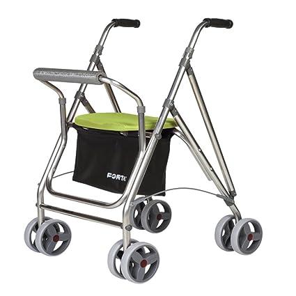 Andador para personas mayores | Rollator de aluminio con asiento ...