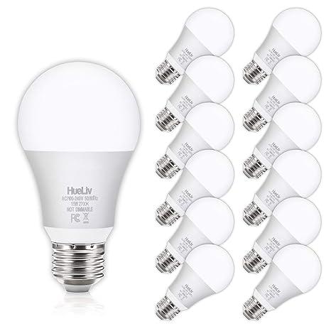 E26 Bulbs1100LumensNon Medium Screw Equivalent A19 WhiteNo Base Light Watt Bulbs 2700K Flicker LED 100 12Pack Dimmable Warm SzqUVMp