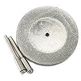 Dophee 8pcs 50mm 2'' Diamond Cutting Discs Cut Off Blade Wheels Arbors Set Rotary Tool