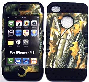 good case Camo 2 Oak Tree on Black Silicone Skin for Apple iPhone 6 plus 5.5 ZDKSJOIJOSa Hybrid 2 in 1 Rubber Cover case cover fits Sprint, Verizon, AT&T Wireless