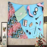 Carolyn J. Morin Custom tapestry summer urban summer girl colorful outfit summer fashion stylish clothes cosmetics makeup