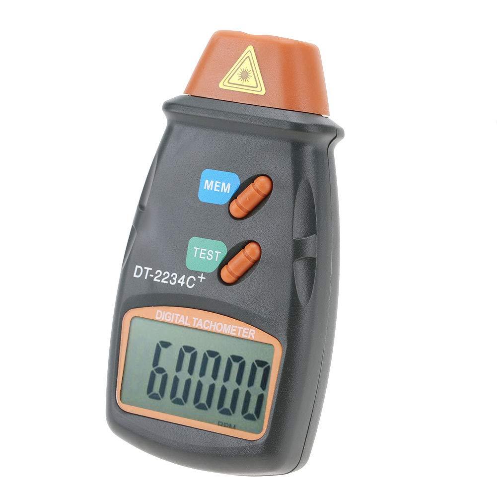 hohe Messgenauigkeit Ber/ührungsloser digitaler LCD-Fototachometer Mini RPM Tester Meter Klare LCD-Anzeige Digitaler Drehzahlmesser DT-2234C