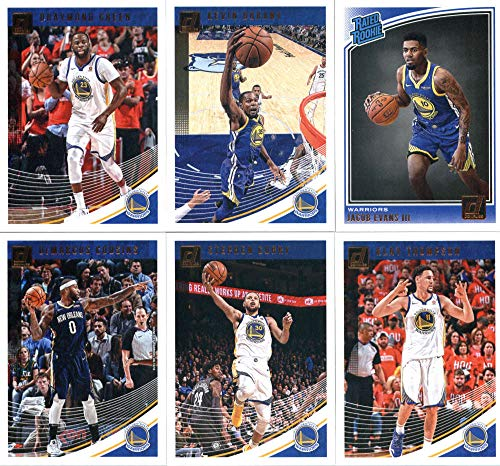 Golden State Warriors Rookie Basketball - 2018-19 Donruss Basketball Golden State Warriors Team Set of 6 Cards: (Rookies included) Stephen Curry(#2), Klay Thompson(#12), Kevin Durant(#22), Draymond Green(#32), DeMarcus Cousins(#42), Jacob Evans III(#178)