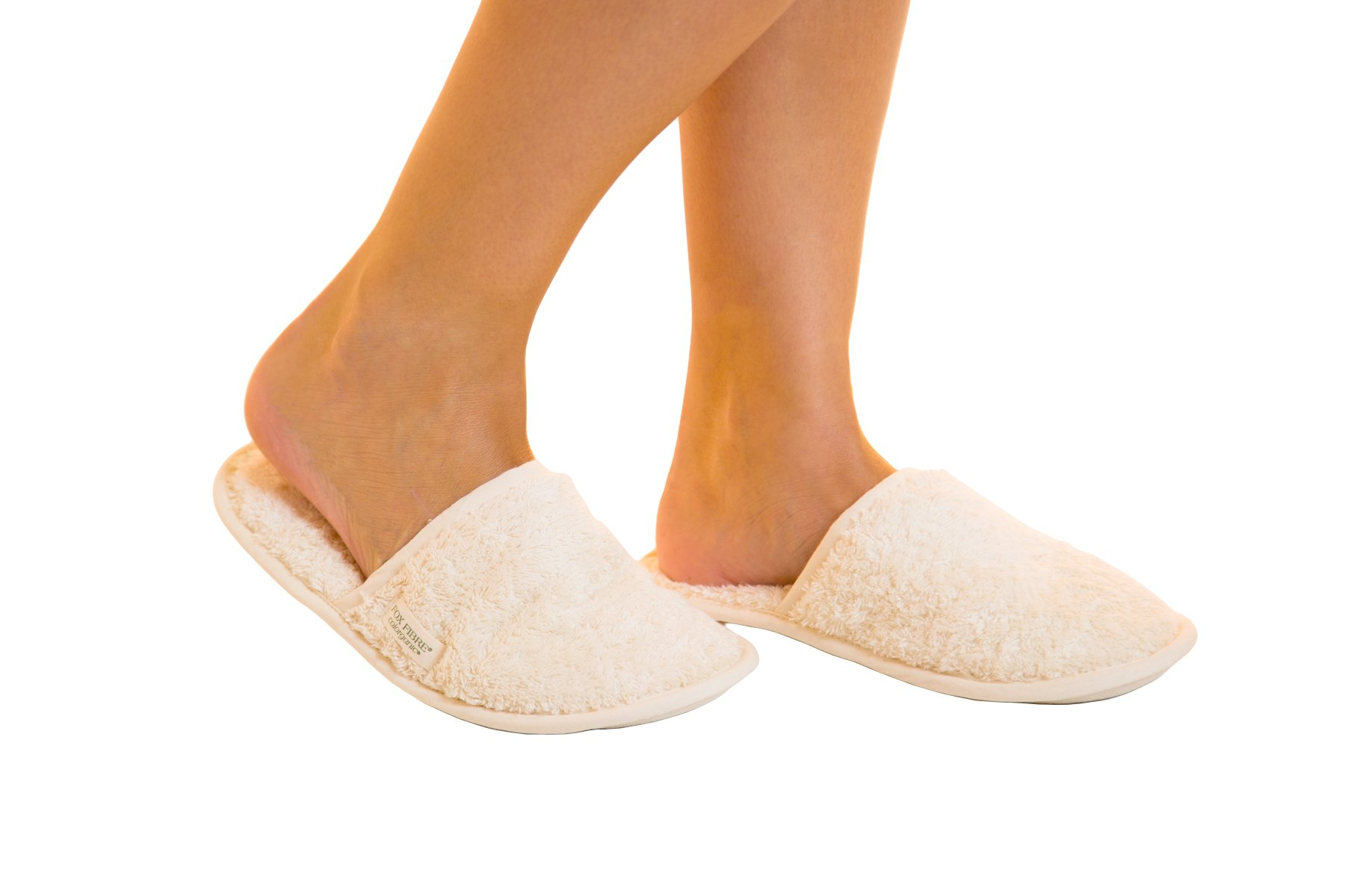 Organic Cotton Colours 100% Certified Organic Cotton Unisex Indoor Slippers Large (43)