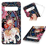 Galaxy S10 Plus Case, Cover Soft TPU Bumper Shock-Absorbing Slim Protective Skin for Samsung Galaxy S10 Plus, Elephant Totem