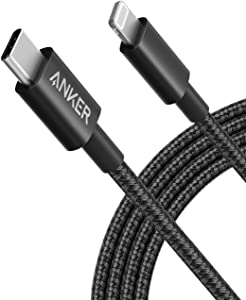 Anker iPhone 12 Charger Cable, New Nylon USB-C to Lightning Charging Cord for [6 ft MFi Certified] for iPhone 12/11 Pro/X/XS/XR / 8 Plus/iPad 8, Supports Power Delivery