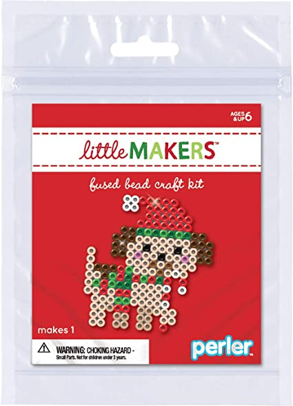 Perler Little Makers Fused Bead Craft Kit Little Dog