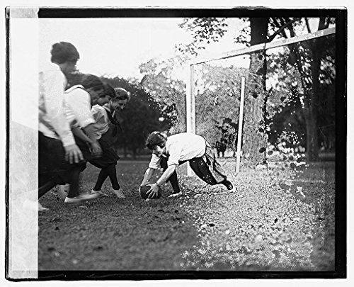 Vintography 16 x 20 Reprinted Old Photo ofGirl soccer 1919 National Photo Co 47a by Vintography