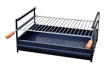 Solsun 43757 - Barbacoa cajón, 60 x 40 x 30 cm, Color Negro