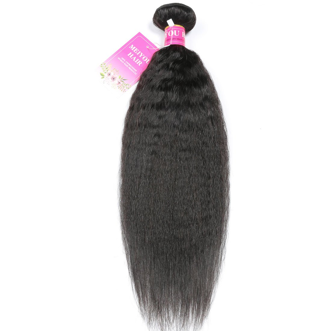 Amazon Mei You 8a Kinky Straight Hair 1 Bundles Yaki Human Hair