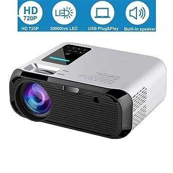 Proyector LED 150ANSI Lumens, 720P HD 3000 Horas Proyector de Cine ...
