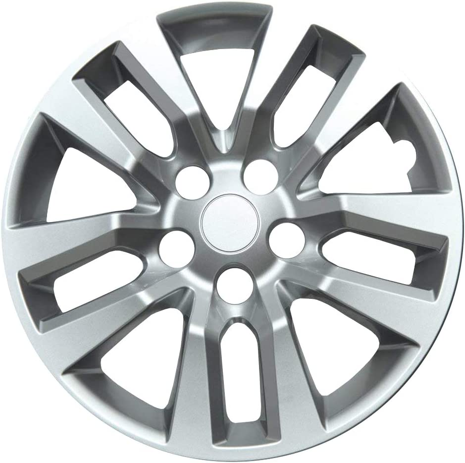 Xtremeauto 16 Car Wheel Trim Set with Chrome Effect Nut Covers.