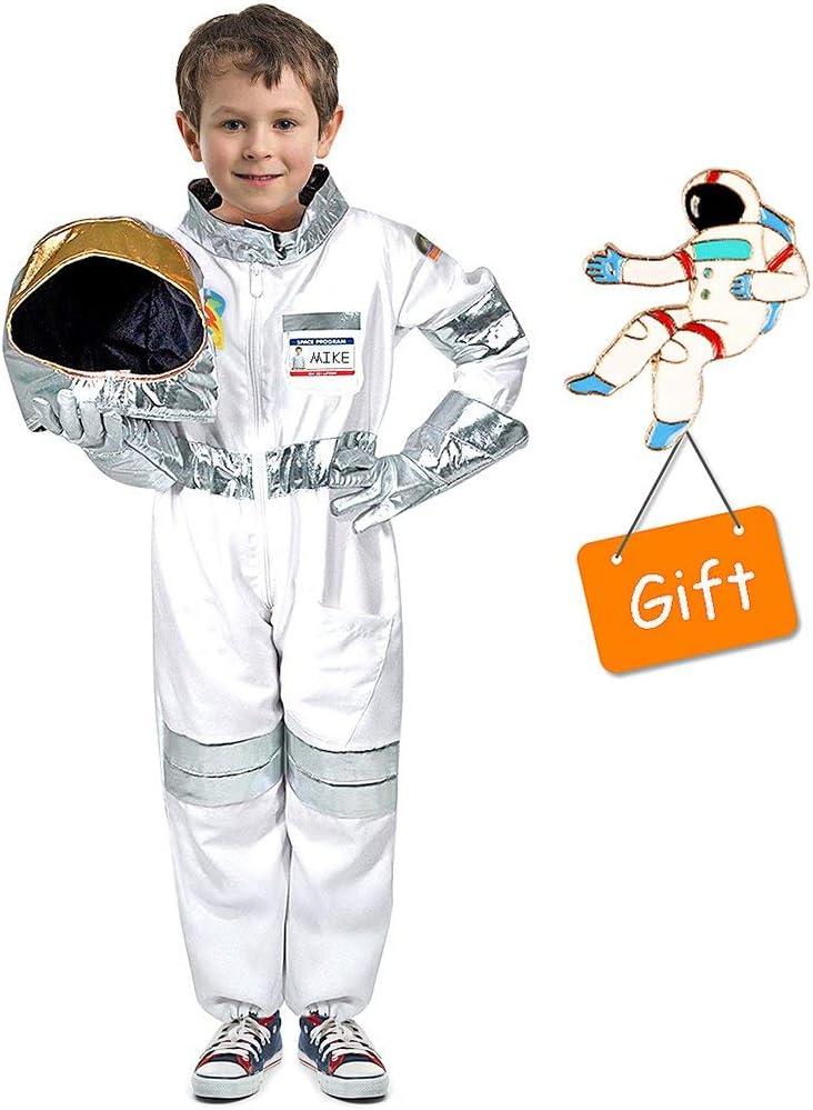 Tacobear Disfraz Astronauta para niños con Casco Astronauta Guantes Astronauta Disfraz Accesorios Astronauta para niños Disfraz de rol (M)