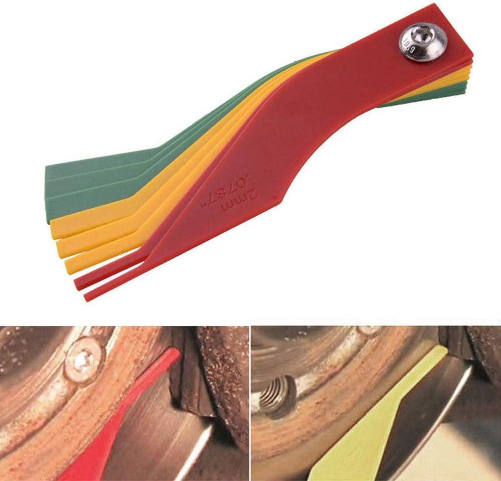 Plastic Brake Pad Gauge 8-in-1 Car Automotive Brake Pad Thickness Gauge Measure Ruler Tool Set Automotive Feeler Lining Brake Pad Measuring Tools