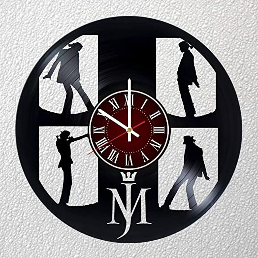 Michael Jackson 12 inches / 30 cm Vinyl Record Wall Clock | Music Gift | Birthday Party Gift | Billie Jean