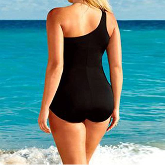 Cinnamou Bañadores Bikinis con Hoja Impresa,Bikini Push Up/Traje De Baño Mujer/Ropa De Baño Bohemia/Swimwear de Negro/Bodysuits Baño De Natación Mujer ...