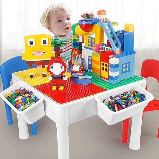 Yanxia Mesa de Madera para niños Modelo Lego 3/6/9/12 años de Edad ...