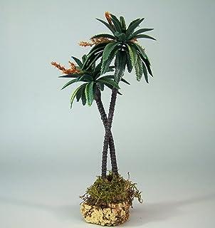 22 cm Belenes Puig Gr/üne Palme 3-fach auf Korkh/ügel Krippenbotanik Weihnachtskrippe