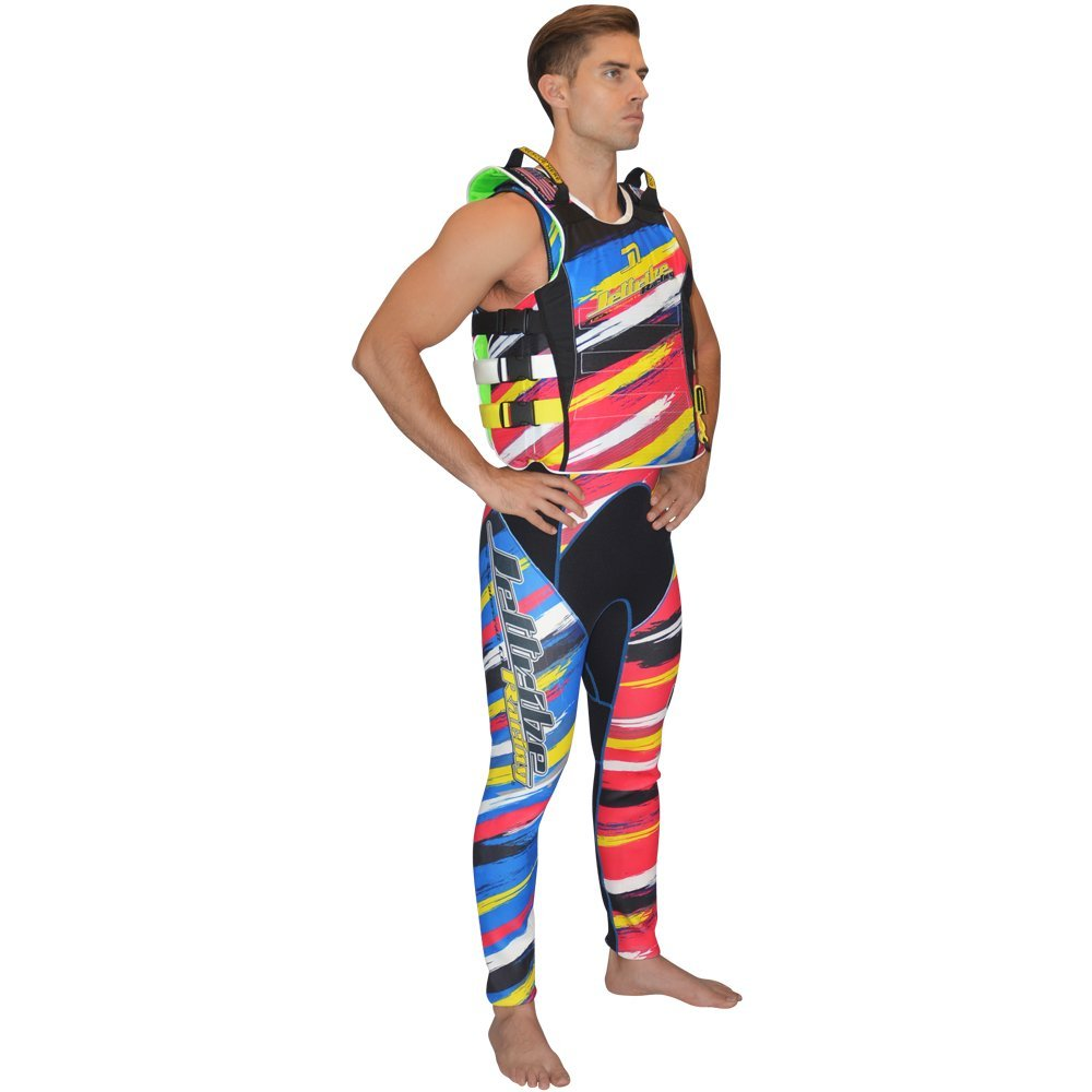 jettribe ur-20 Scratch Side Entry Race Vest Jetskiライフジャケット L-XL イエロー B071PF4R9M