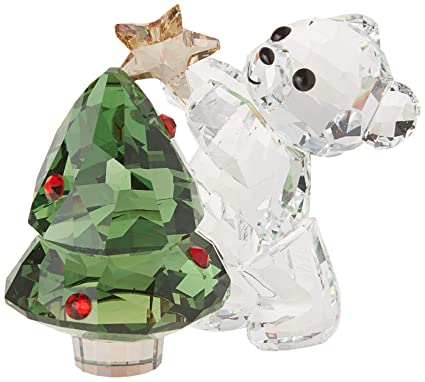 456f0a971 Swarovski Kris Bear - Christmas, A. E. 2018, Clear Crystal, Green and red