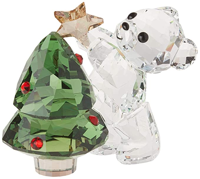 7e9be72a0 Amazon.com: Swarovski Kris Bear - Christmas, A. E. 2018, Clear Crystal,  Green and red: Home & Kitchen