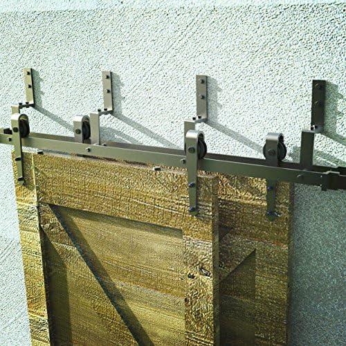 Fullhouse - Kit de herramientas para puerta corredera, diseño de flecha, color negro rústico, para garaje, armario, interior y exterior, uso silencioso y suave deslizante: Amazon.es: Bricolaje y herramientas