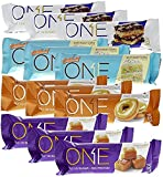quest protein bar single - ONE Protein Bar, 4 Flavor Variety Pack, Includes Birthday Cake, Maple Glazed Doughnut, Blueberry Cobbler, Salted Caramel, 20g Protein, 1g Sugar, 12-Pack (packaging may vary)
