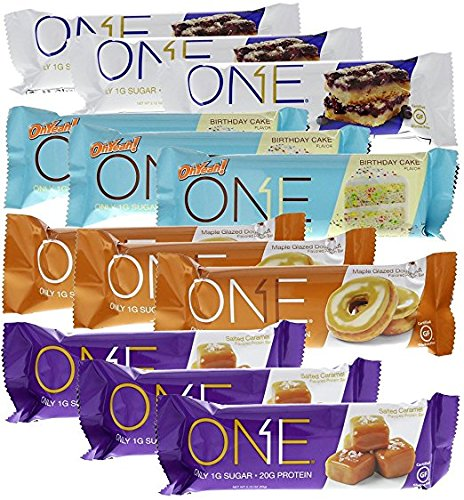 Iss One Bar Americas  1 Favorite Flavors Protein Bar Variety Pack 12   Bars