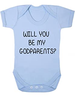 f0abc6ecb Will you be my Godparents? Baby Grow / Baby Vest / Bodysuit / Playsuit