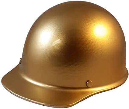 448463610b3 MSA Skullgard Cap Style Hard Hat With Ratchet Suspension Custom Gold - -  Amazon.com