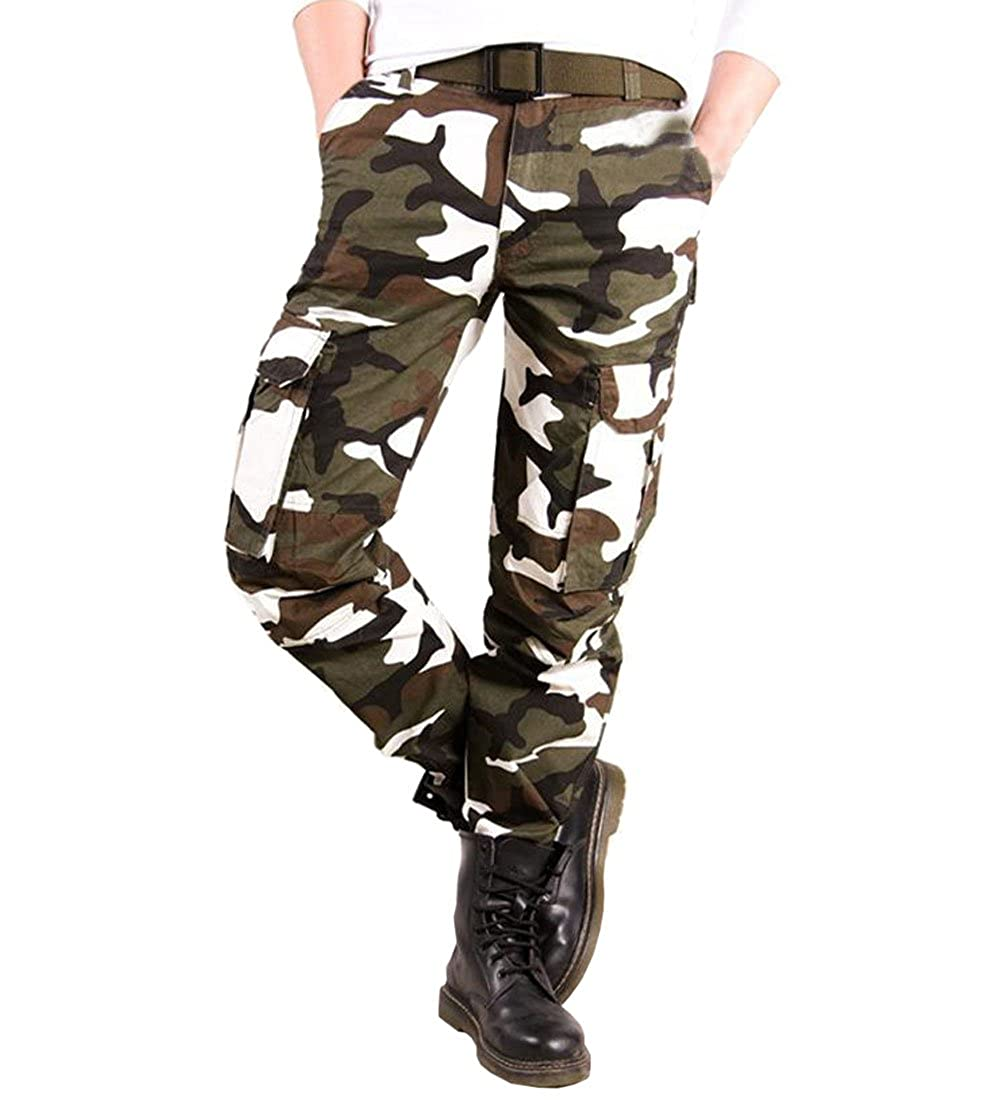 Congs Mens Military Cotton Cargo Pants Trousers