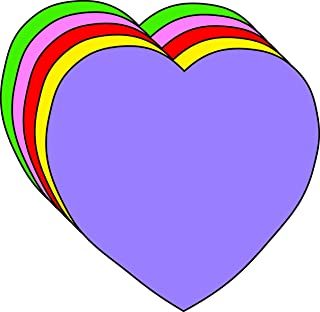 "product image for 2"" Heart Assorted Color Creative Cut-Outs, 31 Cut-Outs in a Pack for Kids' Love and Peace School Craft Projects, Valentine's Day Craft."