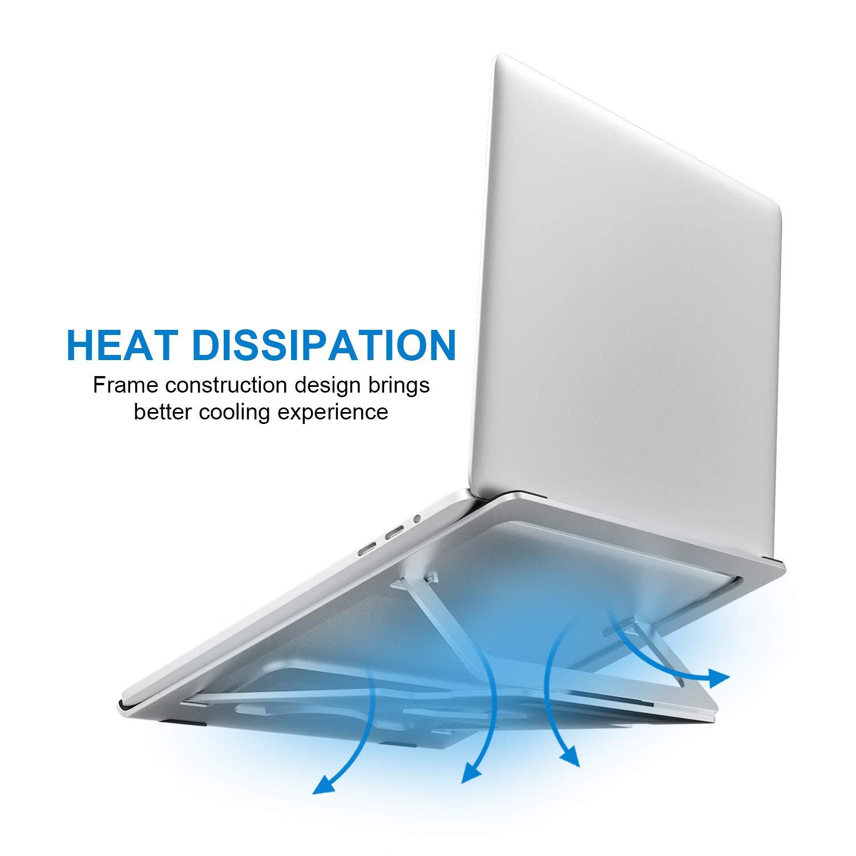 Djustable Laptop Stand - Foldable Notebook Stand Laptop Riser Desktop Holder for Desk Compatible with MacBook Air/Pro, Dell, HP, Microsoft, Asus, Samsung, XPS, Acer, Lenovo 7-17\