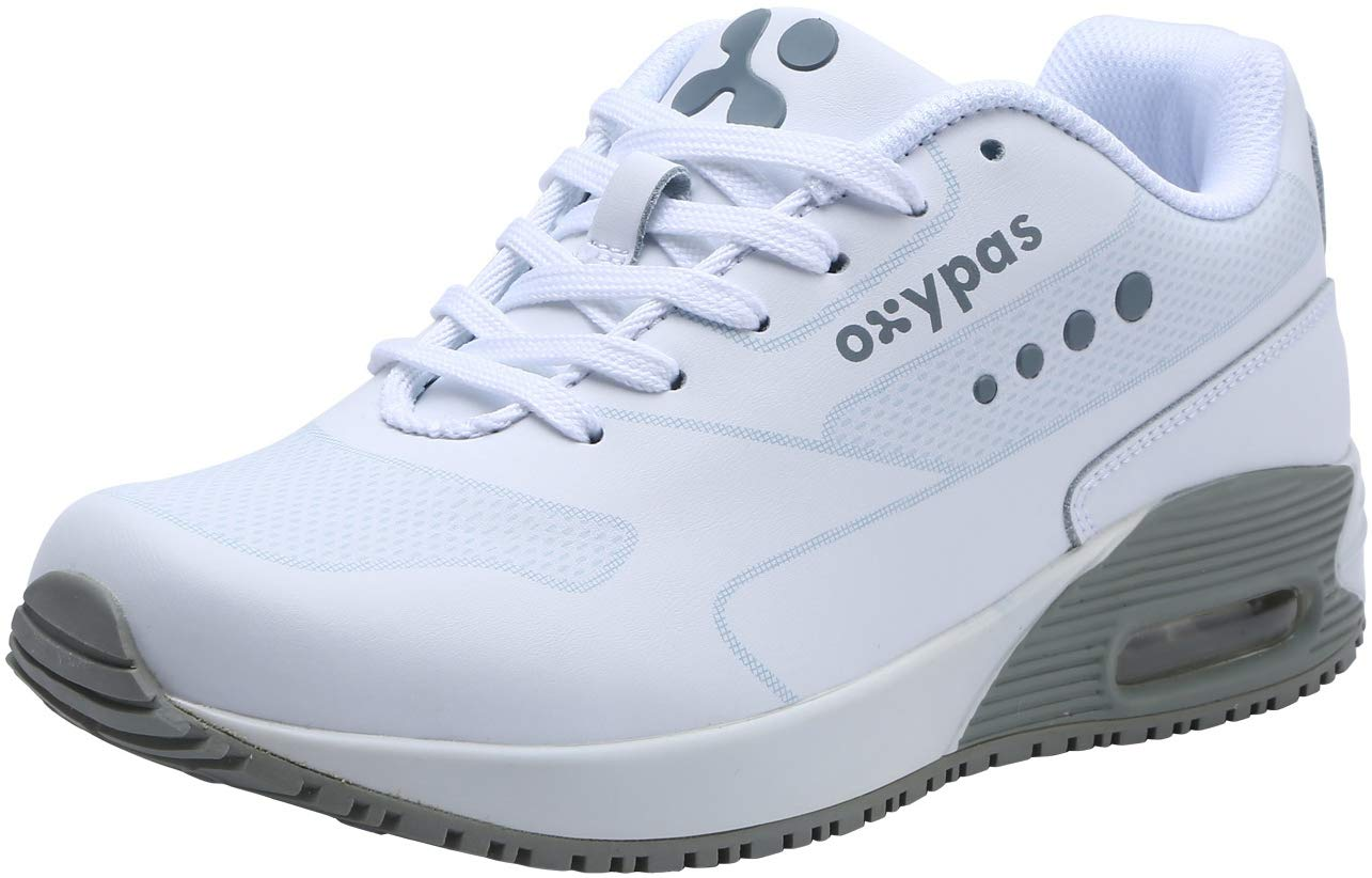 Dykhmily Work Womens Non-Slip Anti-Static Shoes (9,Gray)