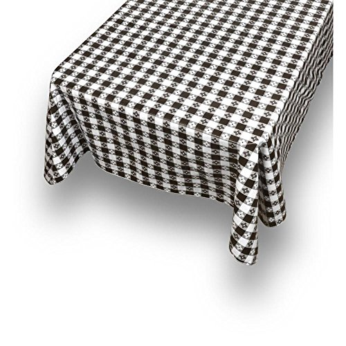 Carnation Home Fashions Pfln-52/16 Picnic Check Vinyl Flannel Backed Tablecloth, 52