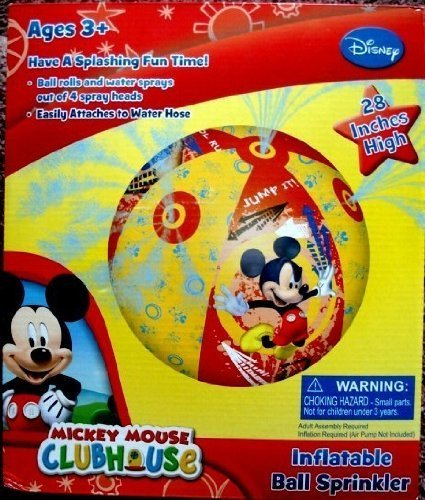 - Disney Mickey Mouse Clubhouse, Giant Ball Water Sprinkler, 28 inches, Rolls and Sprays