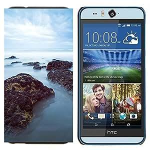 TECHCASE---Cubierta de la caja de protección para la piel dura ** HTC Desire Eye ( M910x ) ** --Mar Misty Rocks
