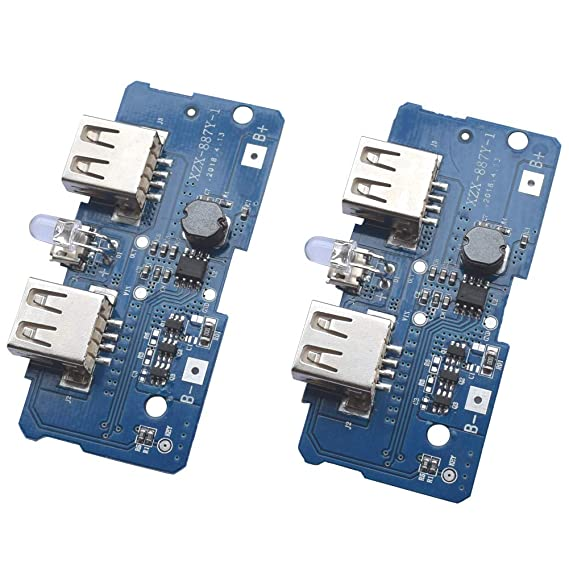 amazon com onyehn 3 7v turn 5v 2a boost step up module dual usb rh amazon com