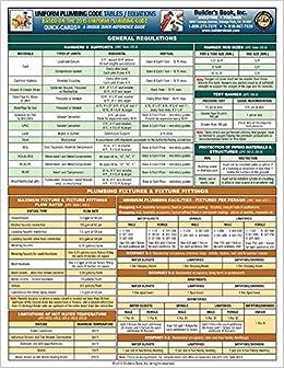 Uniform plumbing code tablesequations quick card based on 2015 upc uniform plumbing code tablesequations quick card based on 2015 upc builders book inc 9781622701223 amazon books fandeluxe Gallery