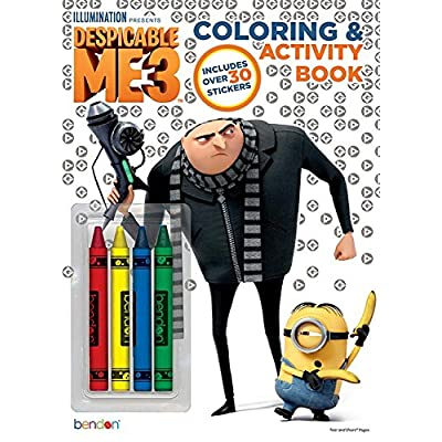 Despicable Me Bendon 3 Coloring and Activity Book with Crayons, 32 Pages (40916): Toys & Games
