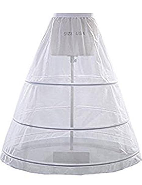 A-Line mujer enagua miriñaque blanca para novia guardainfante de novia enagua falda paseo nupcial