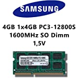 Samsung 4 GB (1 x 4 Go) DDR3 1600 MHz (PC3 12800S) So DIMM mémoire RAM