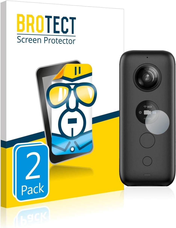 2 St/ück BROTECT Schutzfolie kompatibel mit Insta360 One X klare Displayschutz-Folie